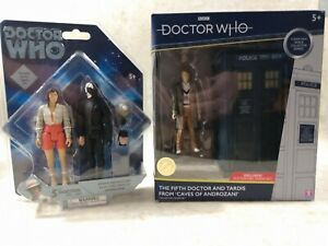 Doctor Dr Who 5th and Tardis Caves of Androzani Figure Bundle : Read description