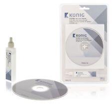 DVD VCD CD-ROM Disco Limpiador De Lentes Estéreo De Cabeza + líquido de limpieza Wet & Dry NUEVO
