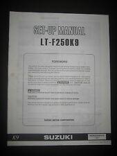 SUZUKI LT-F250K9 Set Up Manual LT F250 K9 Set-Up 99505-01059-01E Motorcycle
