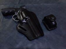 "D0303 Pancake Holster & Single Speedloader Pouch 357 Magnum 4"" barrel Handmade!"