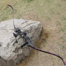 60'' Takedown Recurve Bow 35lb Archery Arrow Rest 5 Pin Bows Sight Damper String
