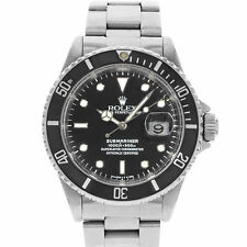 Rolex Submariner 16610 Date 4-Liner Black on Black 1996 Steel Automatic Watch