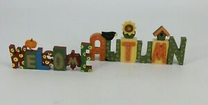 Welcome Autumn Wooden Plaques Set Thanksgiving Fall Decor