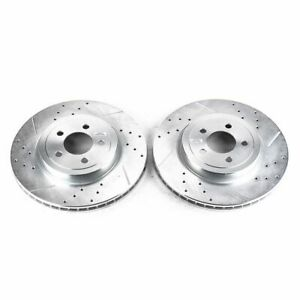 PowerStop for 05-19 Chrysler 300 Front Evolution Drilled & Slotted Rotors - Pair