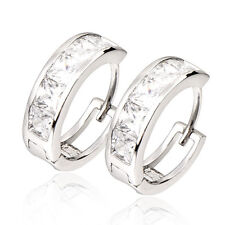 crystal Crystal Womens Hoop Earing Fashion Earings 18K White Gold Filled