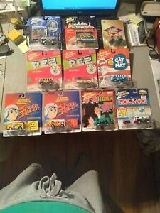 LOT OF 10 JOHNNY LIGHTNING VOLKSWAGEN 9-BUSES + 1-TRUCK PEZ HULK 2-SPEED RACER +