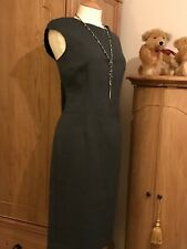 Zara Size L 12-14 Grey Fitted Pencil Dress Smart Career Work. New With Tickets