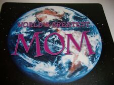 WORLDS GREATEST MOM COMPUTER MOUSE PAD PLASTIC DESK PORTABLE HOME SCHOOL OFFICE