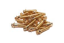 120x Gold Split Rim Bolts M8 x 32mm HRE DPE IFORGED ROTIFORM WORK Steel Screws