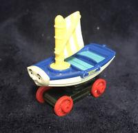 RARE 2014 Thomas & Friends Take & Play Mattel Metal Train - SKIFF Boat on Wheels
