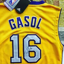 1bfd1f6b6 Pau Gasol Signed Autograph Los Angeles Lakers Jersey NBA Spain HOF Spurs  Bulls