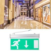 Acrylic Lighting Exit Sign And Emergency Light pipe LED Combo W/ Battery Backup