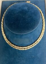 9ct Gold Ladies Hallmarked Neckles 16inches Long  26 Grams STUNNING !!!