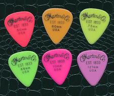 Martin & Co Usa Set of 6 guitar picks all different gauges