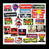 24pcs Supreme JDM Car Sticker Waterproof Superman Zombie Laptop Luggage Decal