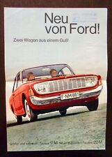 Vintage 1960s FORD TAUNUS Brochure GERMANY 17 M and 20 M Cars NEU VON FORD!
