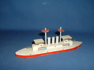 Vintage Christmas Putz 1930's Miniature Japanese Wooden Ship