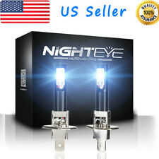 NIGHTEYE 2pcs H1 LED Fog Light Bulbs Kit Super Bright 6500K White Beam US Stock