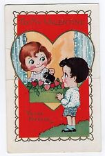 Vintage Valentine'S Day Card Heart Shaped Yours Forever Love Illustration Lovers