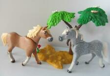 Playmobil Farm/stables/western extra animals: 2 Horses and tree scenery NEW