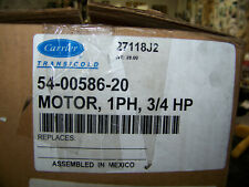 Carrier Transicold Condenser Fan Motor 1 PH 3/4 HP 54-00586-20 New