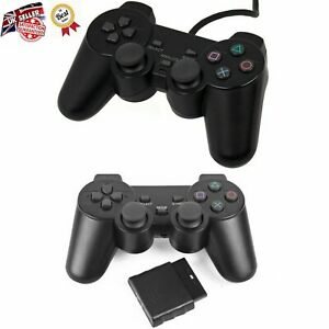 Replacement Wireless Dual Shock Controller for PS2 PlayStation 2 Joypad NEW