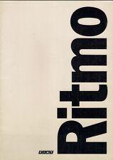 FIAT RITMO 1978-1979 SALES BROCHURE in lingua spagnola 60 65 75 L CL STRADA