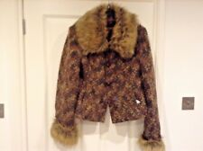 CASUAL JACKET - FAUX FUR COLLAR & CUFFS price reduced - make me an offer