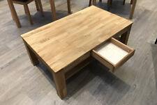 Couchtisch mit Schubkasten Wohnzimmer Tisch Eiche Massiv geölt 115 x 70 cm