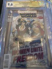 4x Signed Superman Wonder Woman 9 CGC SS 9.6 Signature Gal Gadot Melissa Benoist