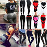 Sexy Womens Sports YOGA Workout Gym Fitness Mesh Leggings Pants Athletic Clothes