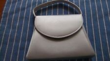 Lord & Taylor Satin Silver Evening Bag
