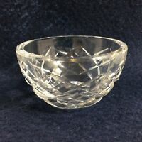 "Waterford Clear Crystal Lismore Open Sugar Bowl Signed 3"" diameter x 1 3/4"" high"