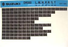 Suzuki DR350 1990 1991 1992 1993 1994 1995 1996 Parts Microfiche s269