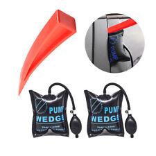 2X  Air Pump Wedge +Chock Car Door Window Emergency Entry Inflatable Bag Repair