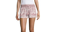 Rewash Woven Pull-On Shorts-Juniors Sizes M, XL New Msrp $40.00 Dusty Rose