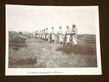 Marocco nel 1908 La Fanteria spagnola o della Spagna