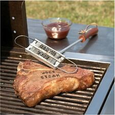Outdoor BBQ Branding Iron W/Changeable Letters Grilling Restaurant Kitchen Tools