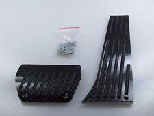 PER BMW Pedali Set Alluminio azionamento automatico REALE DEL CARBONIO NERO/