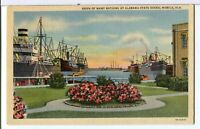 Ships of Many Nations at Alabama State Docks 1930-1945 Mobile AL Postcard