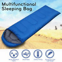 Waterproof Single Sleeping Bag Camping Hiking Suit Case Envelope Stitching Zip