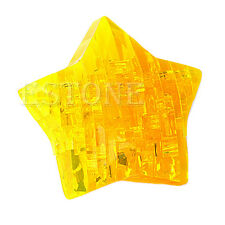 3D Star Shaped Crystal Puzzle Jigsaw Model Diy Intellectual Toy Gift Furnish
