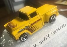 VINTAGE HOT WHEELS 1956 YELLOW CHEVY PICK UP TRUCK, 1991 MATTEL Used/D