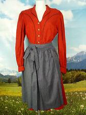 sommerlich leicht mit Feinmuster orig. Vintage Dirndl mit Schürze -DK344- Gr.42