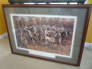 MINT Rick Reeves -Devil On The  River - Collectible Civil War Print -FRAMED
