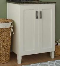 """Jsi Trenton 2 Door Bathroom Vanity Base Cabinet in Ivory 36""""W x 34.5""""H x 21""""D"""