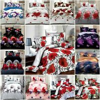 3D Bedding Set 4Pcs Duvet/Quilt Cover Fitted Sheet and Pillowcases Complete Set