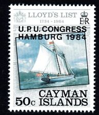 Cayman Islands 1984 50c UPU Congress Overprint Mint Unhinged