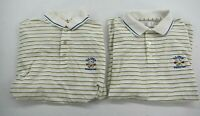 2 US Open 2006 Winged Foot Logo Mens Pinstripe Short Sleeve Golf Polo Shirt L