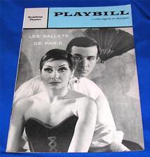 VTG BROADWAY THEATRE PLAYBILL: LES BALLETS DE PARIS, Jeanmarie/Roland Petit 1958